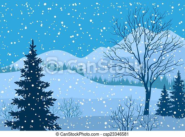 Sapin paysage montagne arbres hiver sapin montagne silhouette hiver snowflakes arbres - Dessiner un paysage d hiver ...