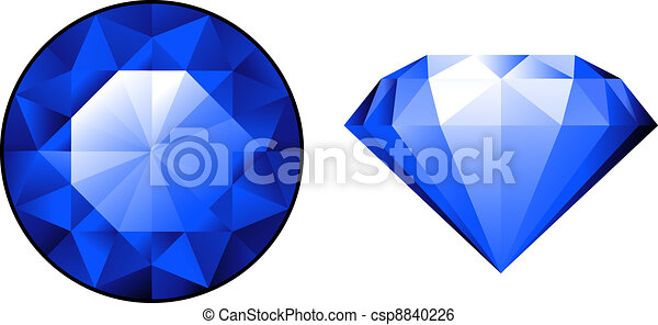 Sapphire from two perspectives over - csp8840226