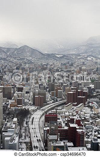 Sapporo city in Japan - csp34696470
