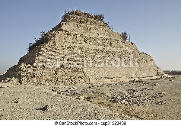 saqqara, ピラミッド, djoser - csp31323439