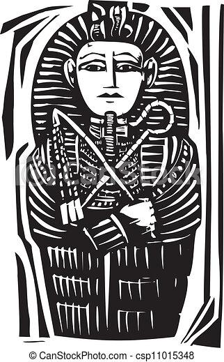 Sarcofago Egipcio Pharaoh Sarcofago Morto Woodcut Egipcio