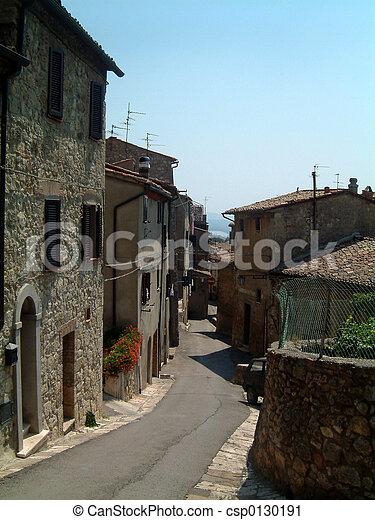 Sarteano street - csp0130191