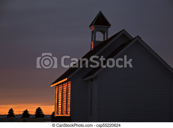 Saskatchewan Prairie Sunset - csp55220624