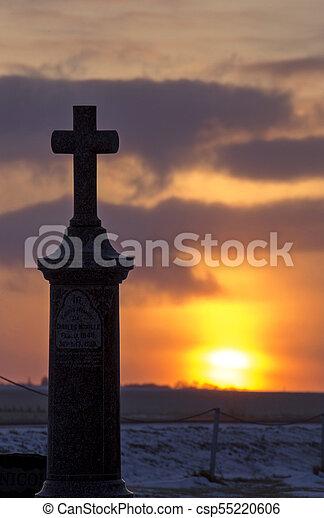 Saskatchewan Prairie Sunset - csp55220606