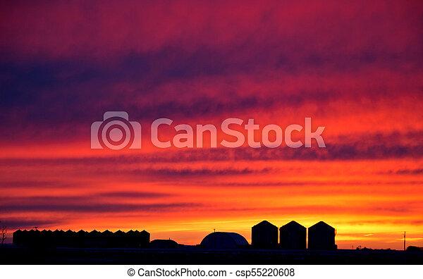 Saskatchewan Prairie Sunset - csp55220608