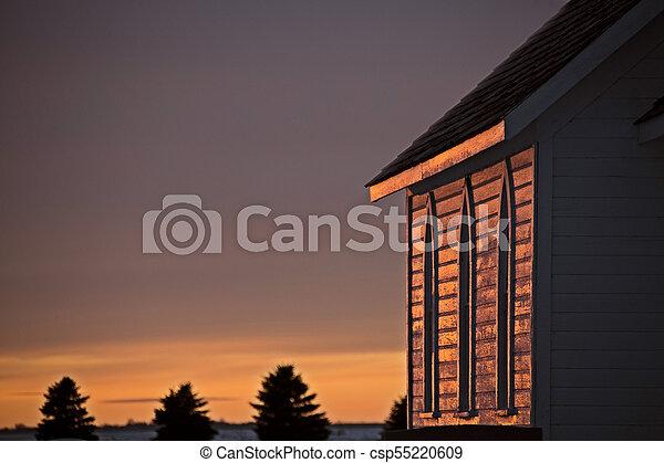 Saskatchewan Prairie Sunset - csp55220609