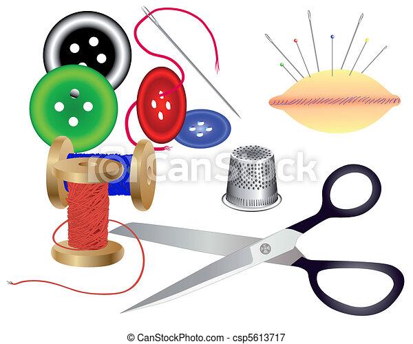 sastre, costurera, accesorios - csp5613717