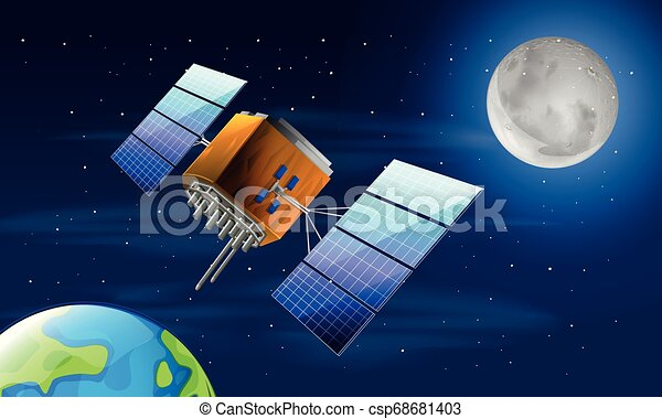 Un satélite en el espacio - csp68681403