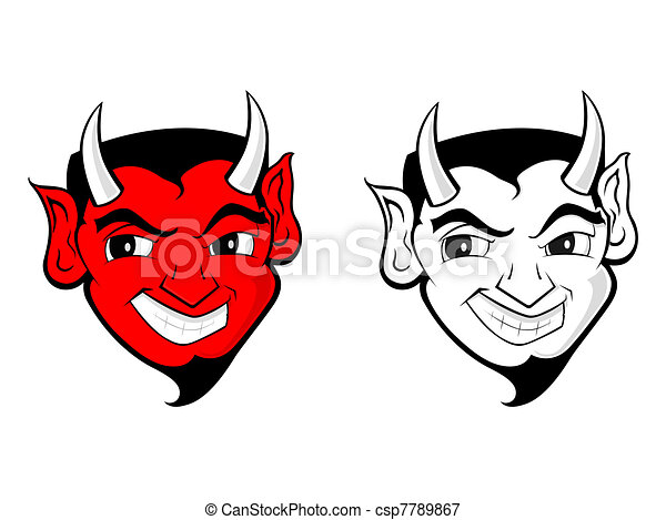 satan, diable, art, /, agrafe - csp7789867