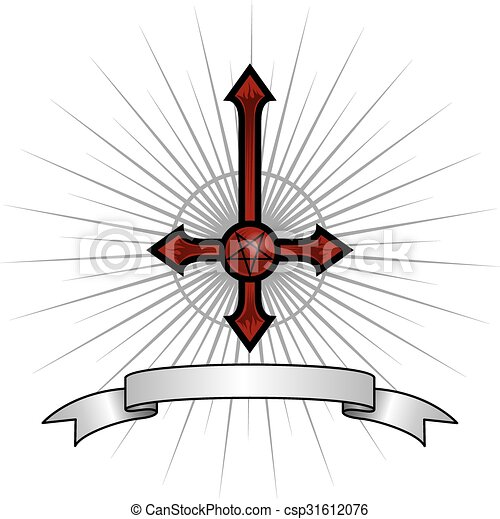 Satanic Cross Inverted Cross With A Pentagram In The Middle