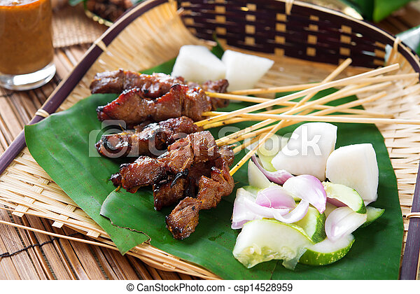 Satay  grilled meat - csp14528959
