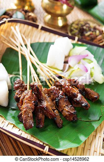 Satay Southeast Asia food - csp14528962