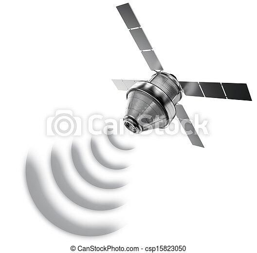 satelita, odizolowany - csp15823050