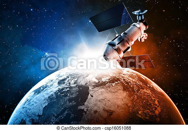 satelita, przestrzeń - csp16051088