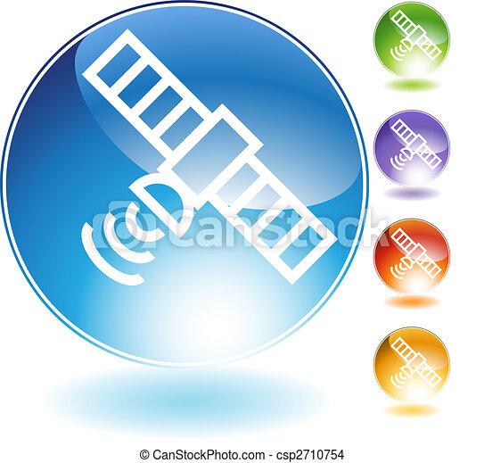 Satellite Crystal Icon - csp2710754
