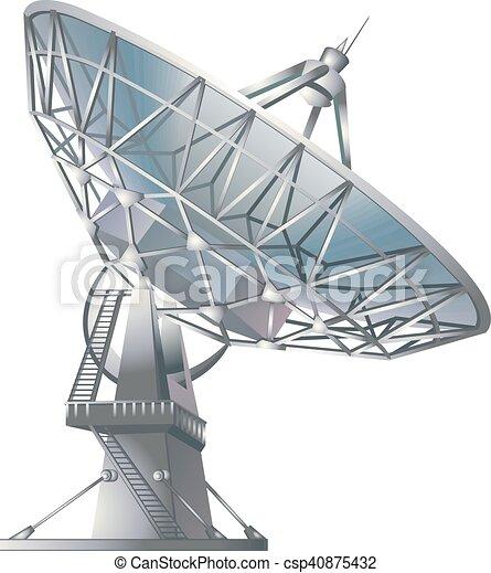 satellite dish vector illustration radio telescope isolated on