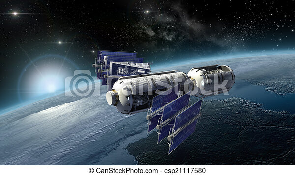 Satellite Surveying Earth Spacelab Or Spacecraft Design For Sci Fi