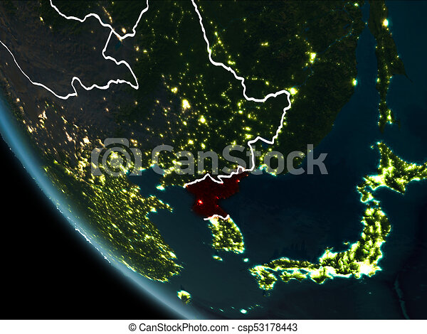 Satellite view of north korea at night satellite view of north satellite view of north korea at night csp53178443 gumiabroncs Image collections