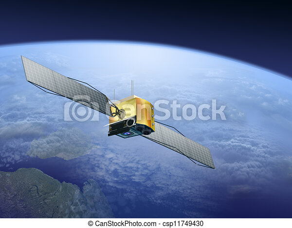 satellites over the Earth - csp11749430