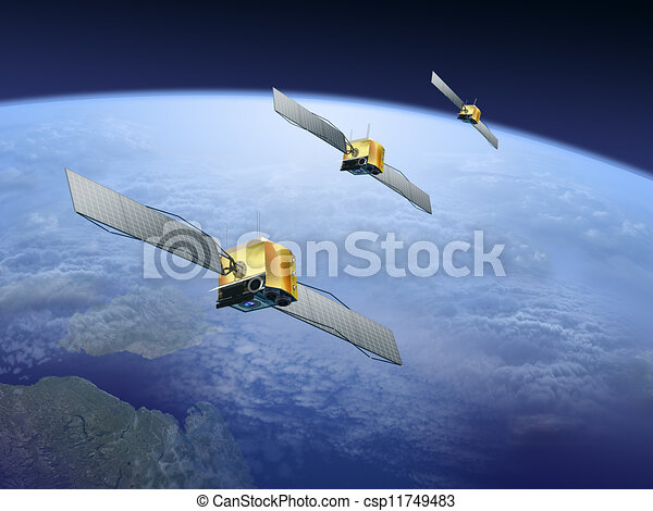 satellites over the earth - csp11749483