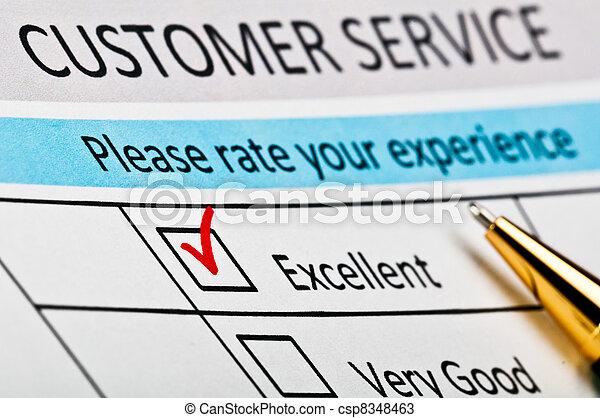 satisfaction client, enquête, form., service - csp8348463