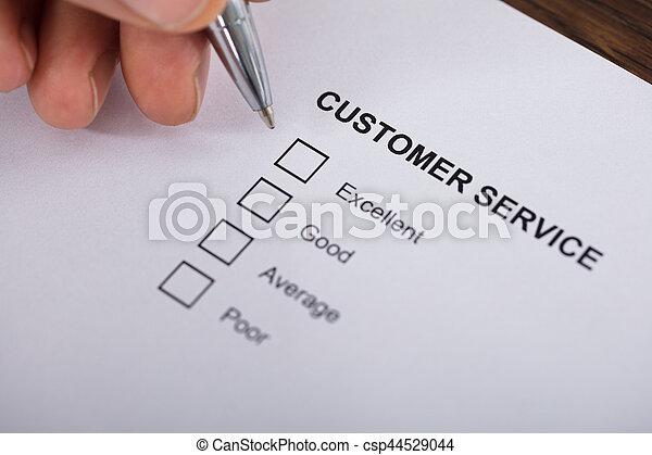 satisfaction client, enquête, service, formulaire - csp44529044