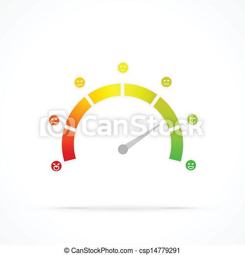 Satisfaction meter - csp14779291