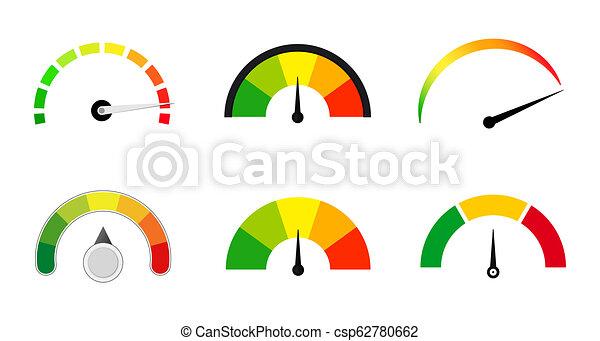 satisfaction meters scale set - csp62780662