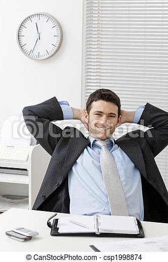Satisfied businessman - csp1998874
