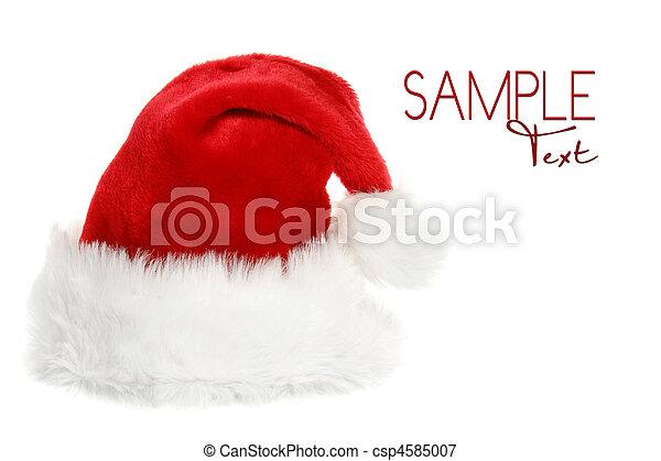 sats, hatt, copyspace, jultomten - csp4585007