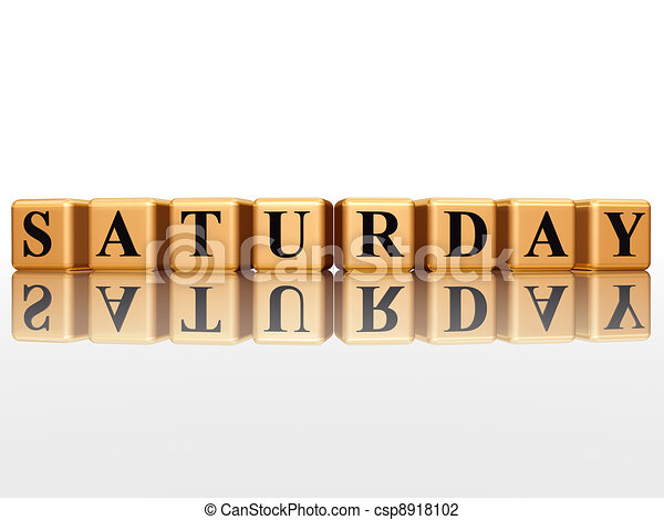 Line Art Letters : Saturday in d golden cubes with letters clip