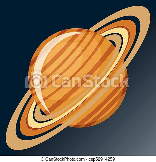 Saturn planet icon