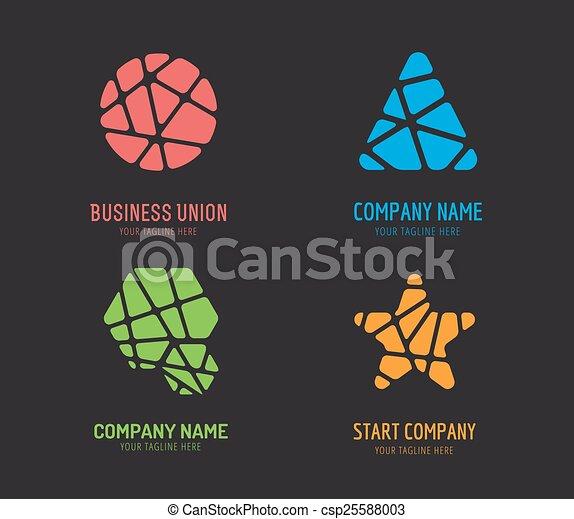 Abstract Vektor-Logo-Set Vorlage für Branding und Design - csp25588003