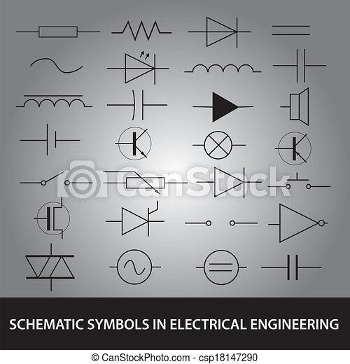 Satz, eps10, symbole, technik, elektrisch, schematisch,... EPS ...