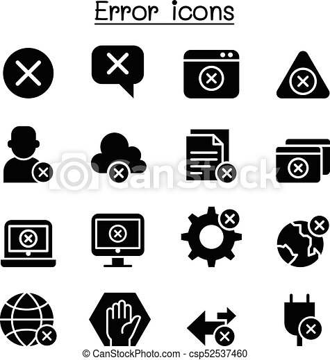 satz, fehler, ikone - csp52537460