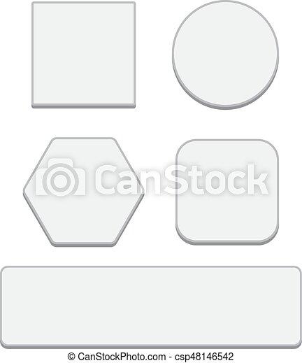 Ein weißer Knopf. Runde runde Knöpfe - csp48146542