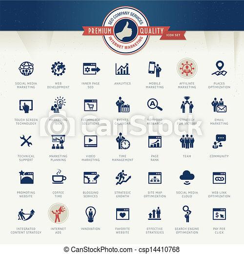 Eine Reihe von Business Icons - csp14410768