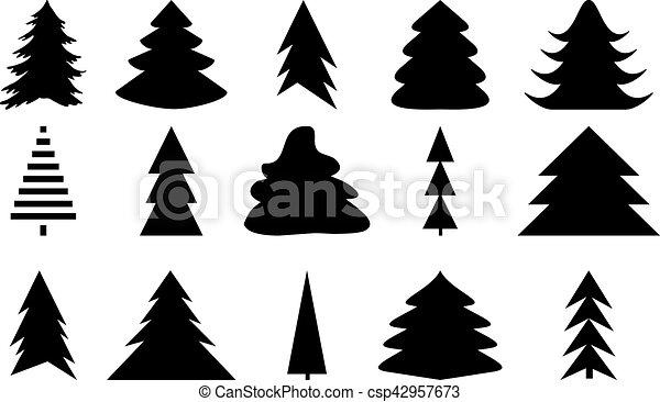 Weihnachten Schwarz Weiß Bilder.Satz Heiligenbilder Baum Schwarz Weißes Weihnachten
