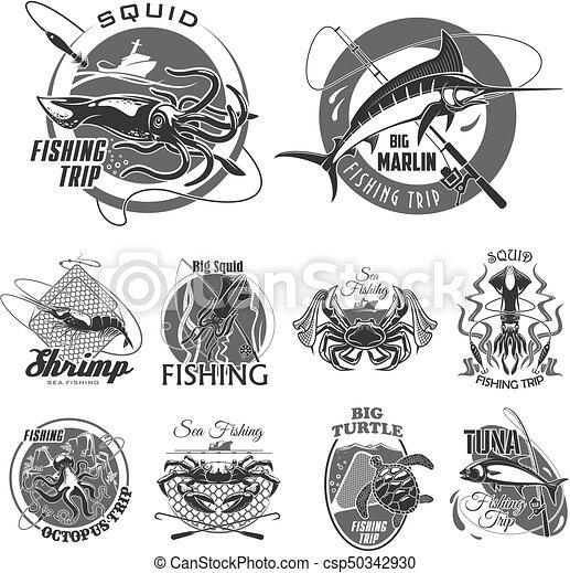 satz, heiligenbilder, oder, vektor, fischerei, fischer, reise