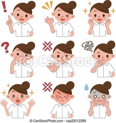 Eine junge Krankenschwester - csp22012289