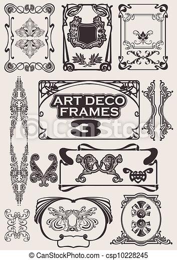 Ein Set von Kunst-Deco-Rahmen. Andere im Portfolio. - csp10228245