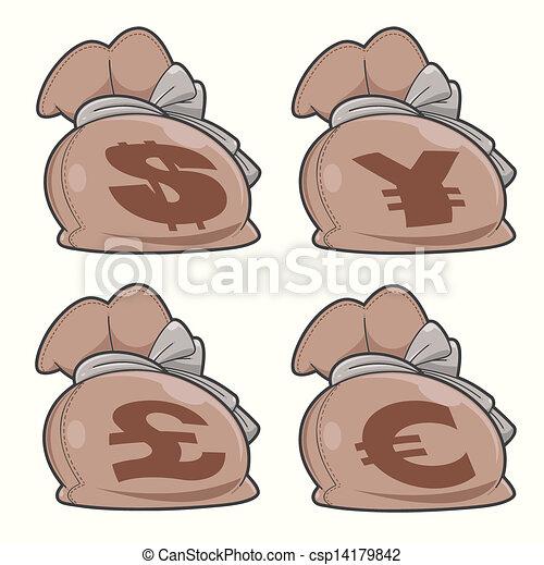 satz, säcke, geld - csp14179842
