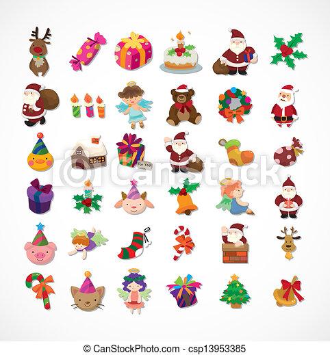 satz, weihnachten, heiligenbilder - csp13953385