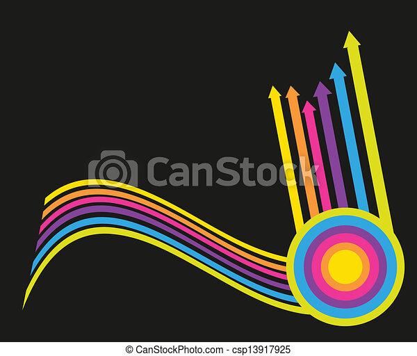 satz, weinlese, vektor, arrows., dein, design. - csp13917925