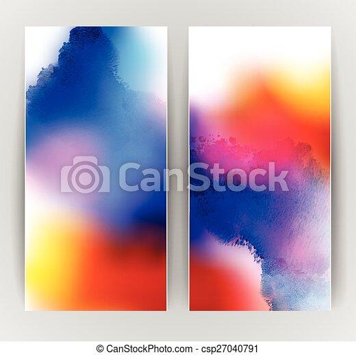 Zwei Banner - csp27040791