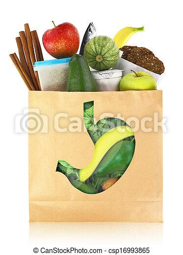 saudável, alimentos, estômago, melhor - csp16993865