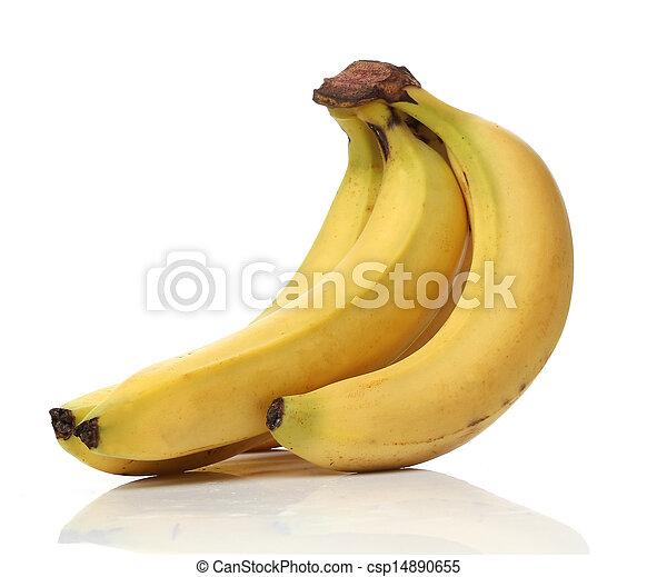 saudável, branca, banana, isolado - csp14890655