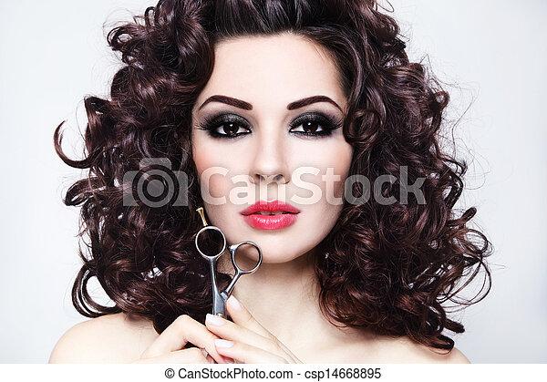 saudável, cabelo - csp14668895