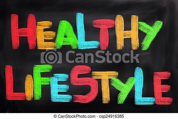 saudável, conceito, estilo vida - csp24916385