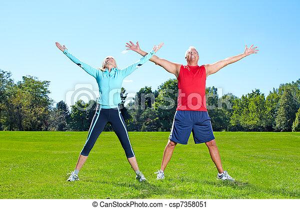 saudável, ginásio, lifestyle., condicão física - csp7358051